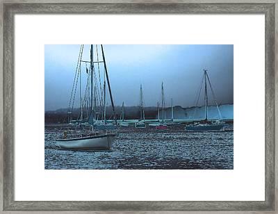 Sailboat Harbor Framed Print by Karol Livote