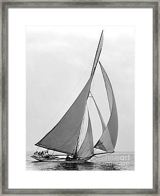 Sailboat Hawk 1891 Framed Print