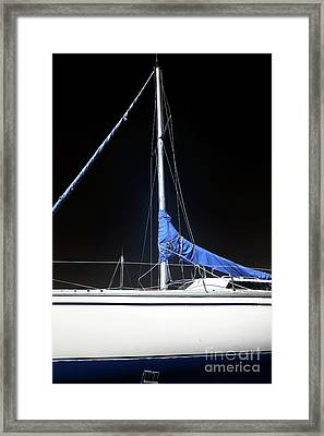 Sailboat Hull Framed Print by John Rizzuto