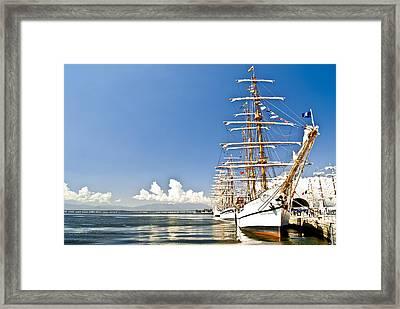 Sailboat In Rio Framed Print by Daniel Wander