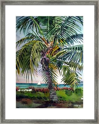 Sailboat In The Keys Framed Print