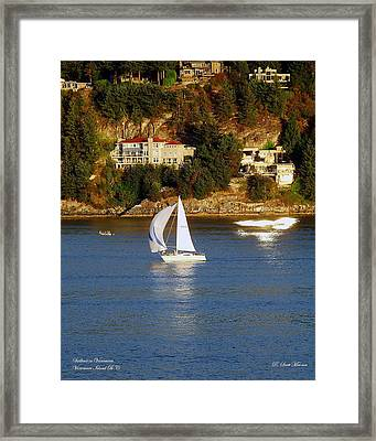 Sailboat In Vancouver Framed Print