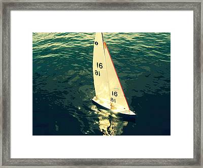 Sailboat Framed Print by Kazumi Whitemoon