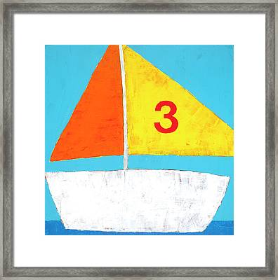 Sailboat Framed Print by Laurie Breen