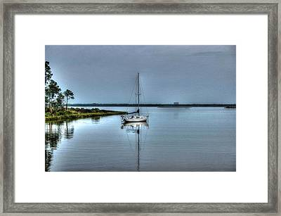 Sailboat Off Plash Framed Print