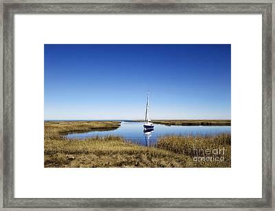 Sailboat On Cape Cod Bay Framed Print