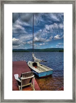 Sailboat On First Lake Framed Print