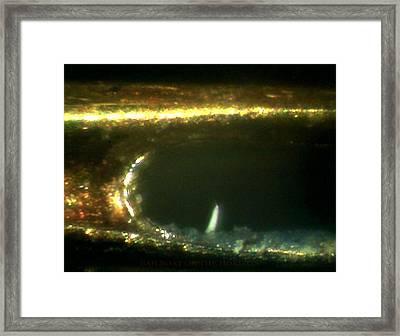 Sailboat On The Horizon Framed Print
