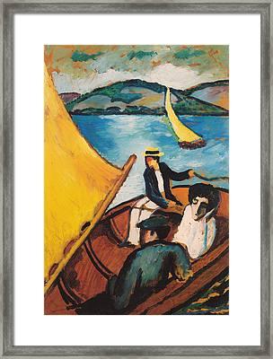 Sailboat On The Tegernsee Framed Print
