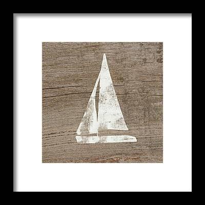 Rustic Beach Decor Framed Prints