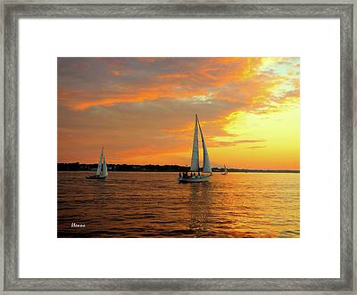 Sailboat Parade Framed Print