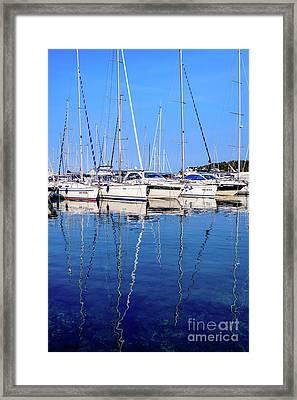 Sailboat Reflections - Rovinj, Croatia  Framed Print