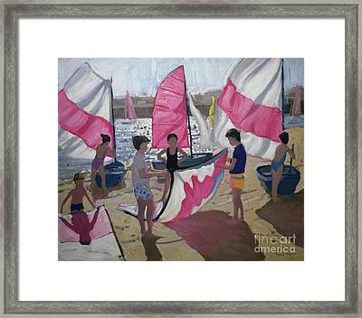 Sailboat Royan France Framed Print by Andrew Macara