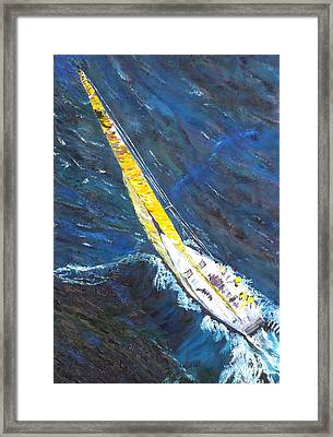 Sailboat Sailing Framed Print by Impressionism Modern and Contemporary Art  By Gregory A Page