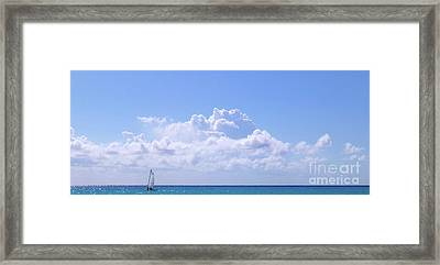 Framed Print featuring the photograph Sailboat Sea And Sky M5 by Francesca Mackenney