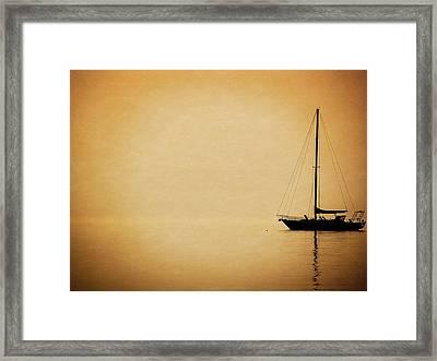Sailboat Silhouette Framed Print