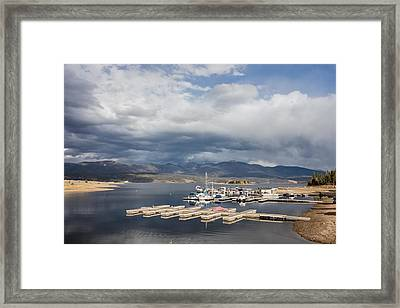 Framed Print featuring the photograph Sailboat Slips On Lake Granby In Grand County by Carol M Highsmith