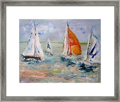Sailboat Studies 3 Framed Print