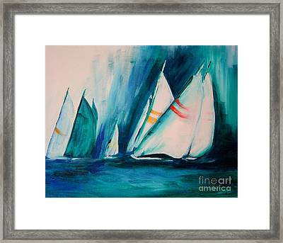 Sailboat Studies Framed Print by Julie Lueders