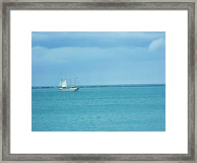 Sailboat Summer Framed Print by Anna Villarreal Garbis