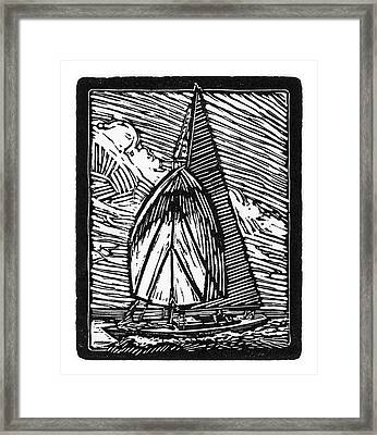 Sailing Framed Print by Tom Taneyhill
