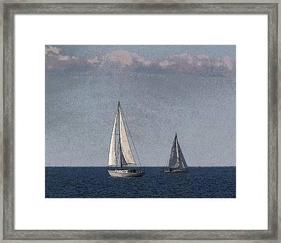 Sailboats At Sister Bay Framed Print