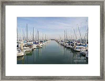 Sailboats At South Beach Harbor San Francisco Dsc5767 Framed Print