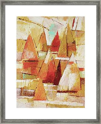 Sailboats Impression Framed Print