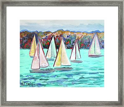 Sailboats In Spain I Framed Print