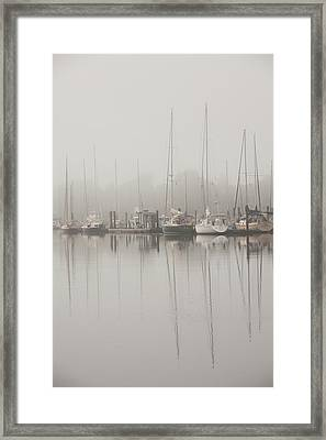 Sailboats In Stillness Framed Print