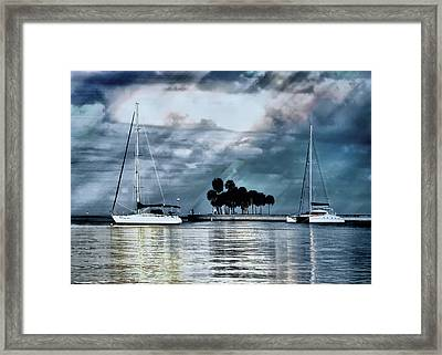 Sailboats Framed Print by Jim Hill