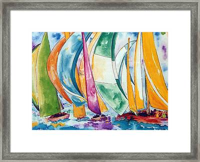 Sailboats Framed Print by Lisa Boyd