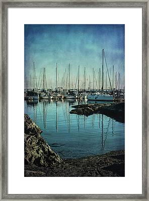Marina - Digitally Textured Framed Print