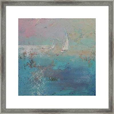 Sailboats Framed Print by Michael Creese