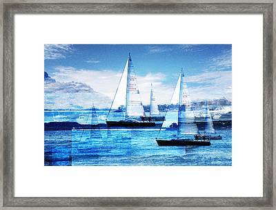 Sailboats Framed Print by MW Robbins