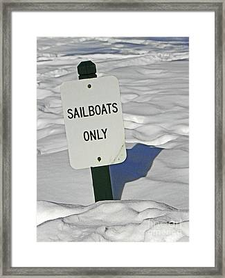 Sailboats Only Framed Print by Elizabeth Hoskinson