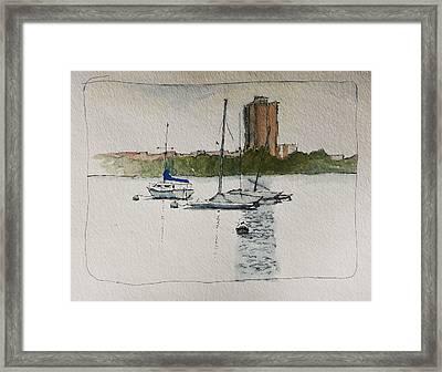 Sailboats Framed Print by Robert Bissett