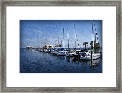 Sailboats Framed Print by Sandy Keeton