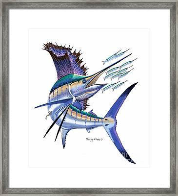 Sailfish Digital Framed Print