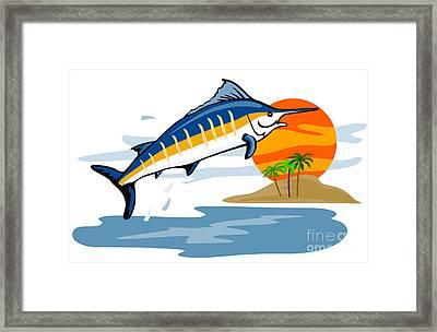 Sailfish Island Framed Print by Aloysius Patrimonio
