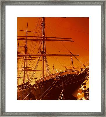 Sailin Out Of Here Framed Print by Julie Lueders