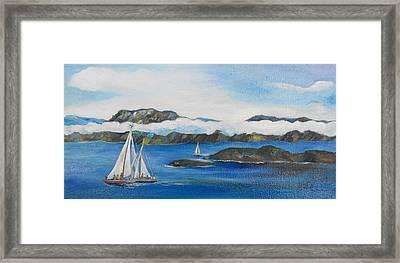 Sailing 2 Framed Print by Min Wang