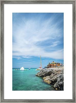 Coastline Sailing In Montego Bay Framed Print