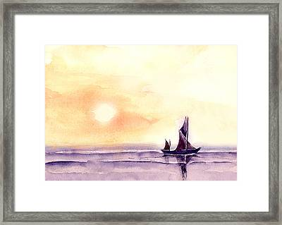 Framed Print featuring the painting Sailing by Anil Nene