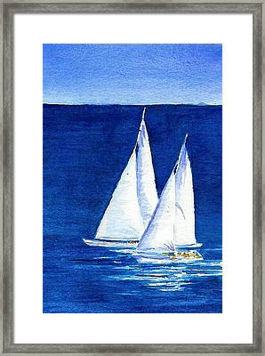 Sailing Framed Print by Anne Marie Brown