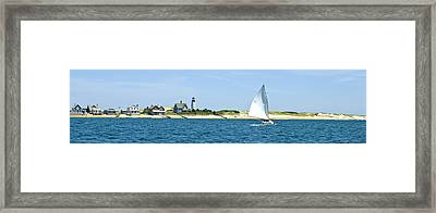 Sailing Around Barnstable Harbor Framed Print
