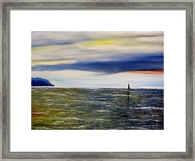 Sailing At Dusk Framed Print by Marilyn  McNish