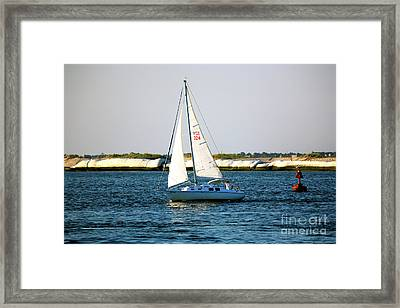 Sailing At Long Beach Island Framed Print by John Rizzuto
