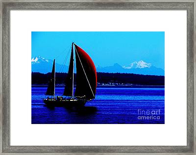 Sailing At Port Townsend Washington State Framed Print
