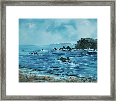 Sailing At The Old Head Of Kinsale Framed Print